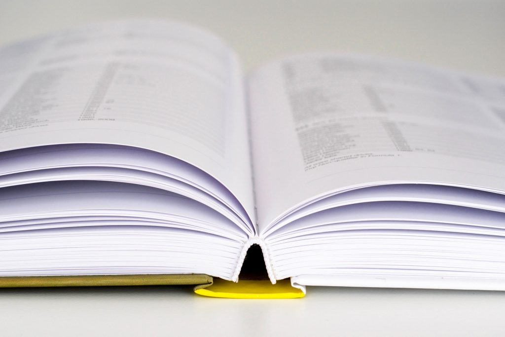 picture of an open book