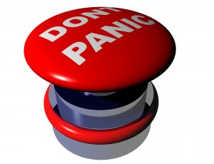 don't panic big red button: overcoming stress