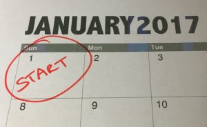 calendar with January 1 circled