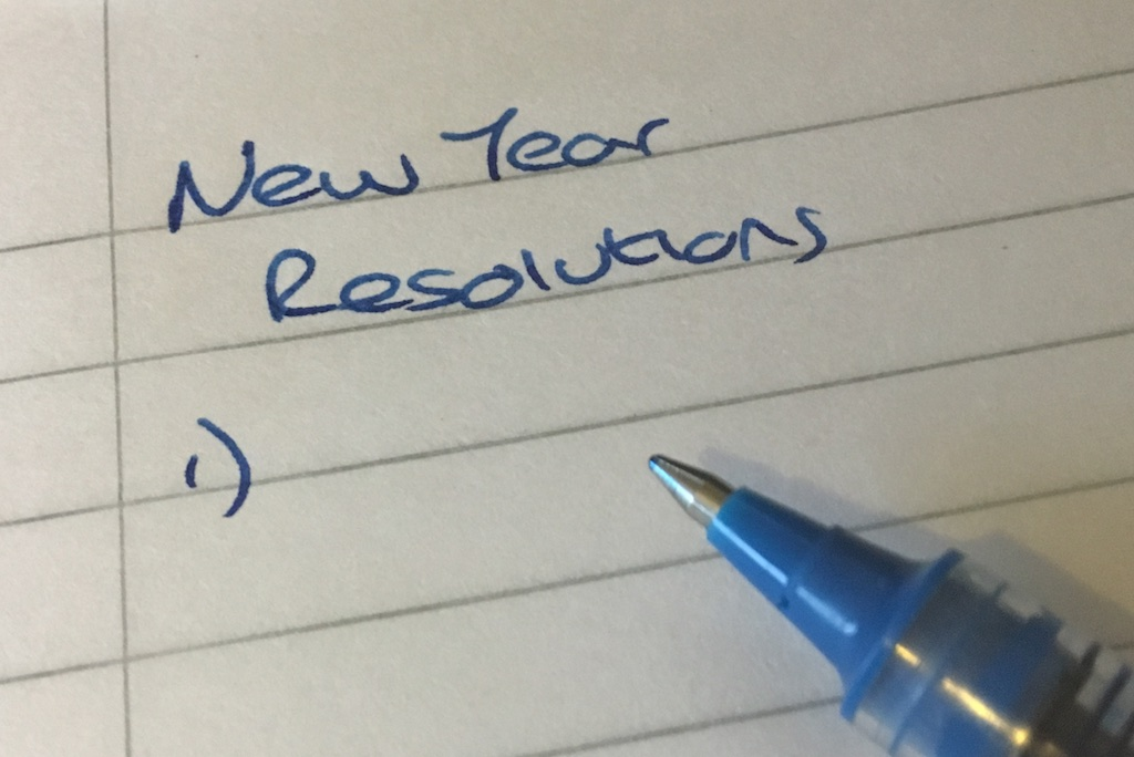 list of New Years resolutions
