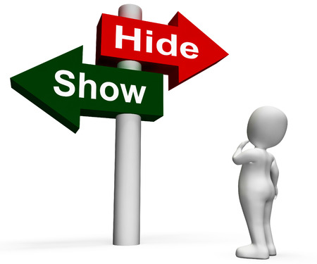 show hide signpost meaning conceal or reveal dyslexia or other hidden disability