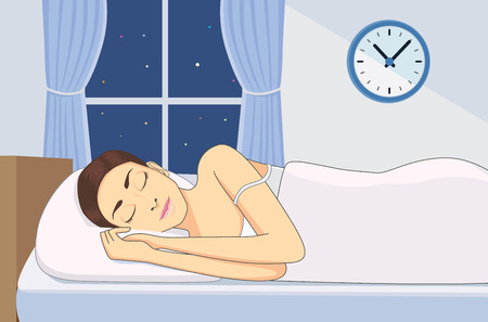 women sleeping at good time for health in bedroom