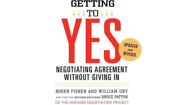 Getting to yes book cover - a process for principled negotiation