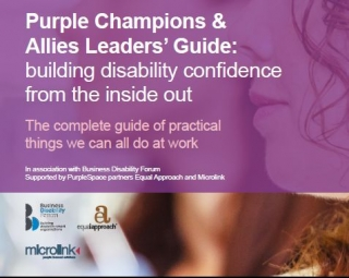 cover for the guide: Purple Champions & Allies Leaders' Guide: building disability confidence from the inside out