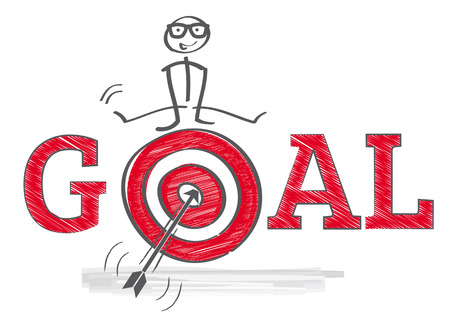 how to reach goals - illustration