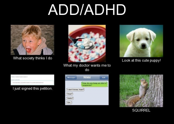 ADHD meme what society thinks I do